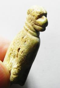 Ancient Coins - ANCIENT HOLY LAND.CANAANITE BONE FIGURE OF A CAT. 1400 BC.