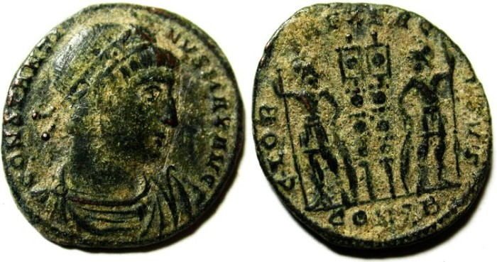 Ancient Coins - CONSTANTINE I AE 3 , NICE