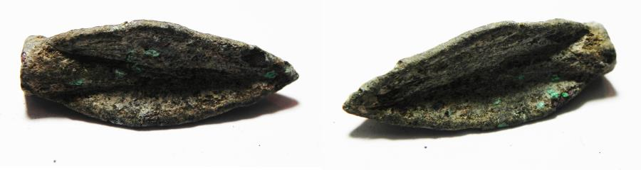Ancient Coins - ANCIENT HOLY LAND, PERSIAN OCCUPATION BRONZE ARROW HEAD. 600 B.C
