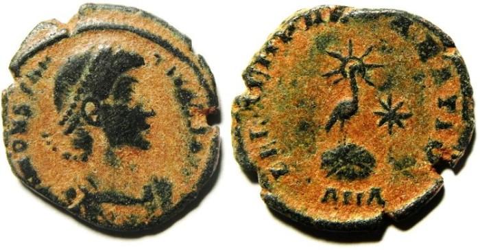 Ancient Coins - CONSTANTIUS II AE 3 , SCARCE!