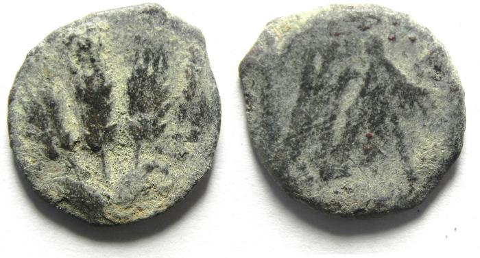 Ancient Coins - JUDAEA , HERODIAN, AE PRUTAH , AGRIPPA I