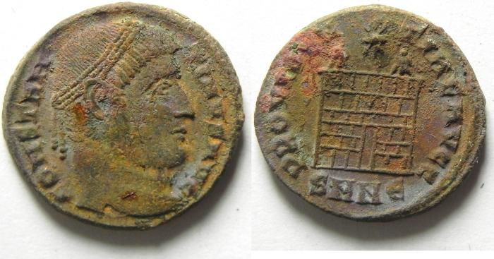 Ancient Coins - CONSTANTINE I AE 3 , NICE QUALITY , CAMP GATE