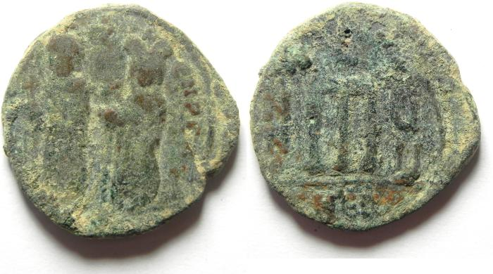 Ancient Coins - BYZANTINE - PHOCAS AE FOLLIS AS FOUND , ANTIOCH