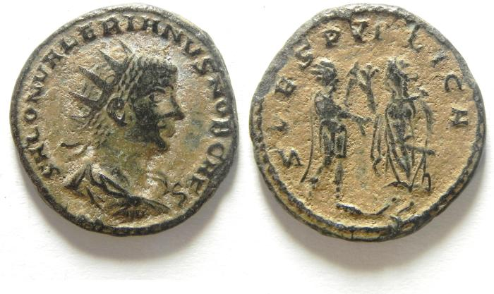 Ancient Coins - BEAUTIFULL SALONINUS BILLON ANTONINIANUS , NEEDS LIGHT CLEANING