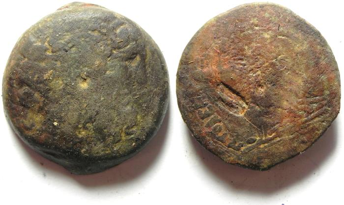 Ancient Coins - PTOLEMAIC KINGDOM , COUNTERMARKED AE 35 , 48.59 GM