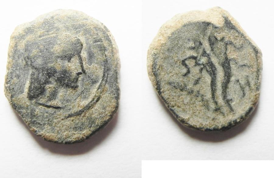 Ancient Coins - NABATAEAN KINGDOM. PHASAEL. ARETAS IV'S SON AE 15MM , 2.88GM