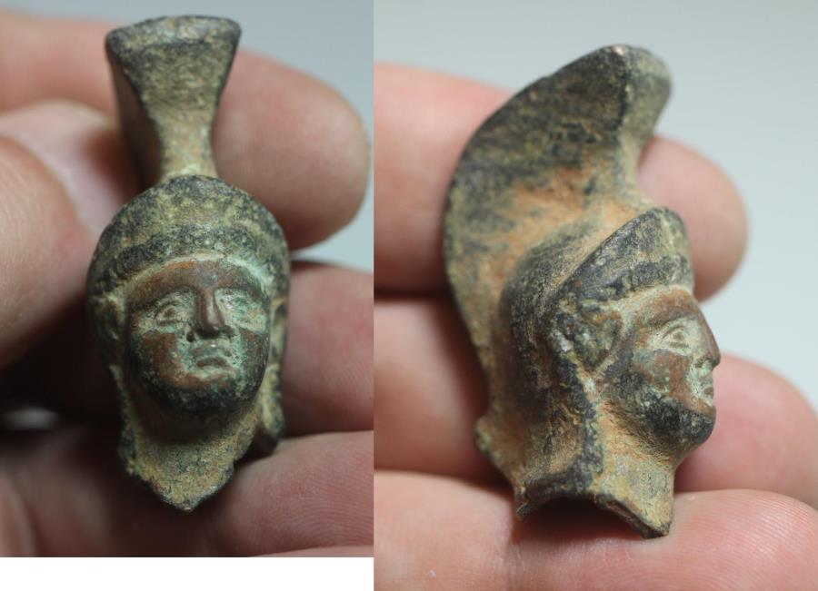 Ancient Coins - ANCIENT ROMAN BRONZE HEAD OF MARS 100 - 200 A.D