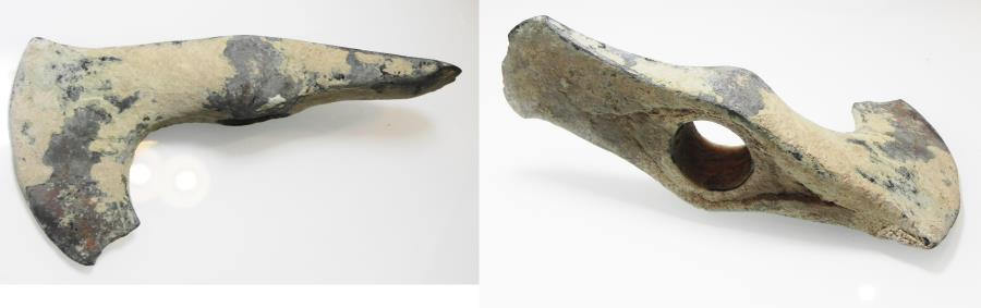 Ancient Coins - ANCIENT LURISTAN - A STUNNING BRONZE AXE HEAD  1200 - 700 B.C,  VERY WELL PRESERVED!!