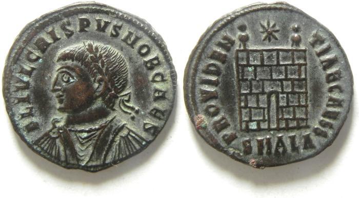 Ancient Coins - CHOICE CRISPUS AE 3 , BEAUTIFULL COIN