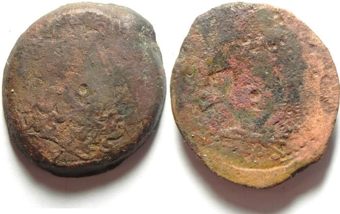Ancient Coins - PTOLEMAIC KINGDOM , COUNTERMARKED AE 39 , 42.52 GM