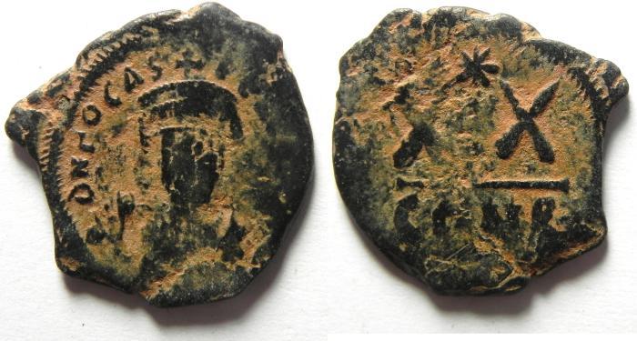 Ancient Coins - BYZANTINE , PHOCAS HALF FOLLIS