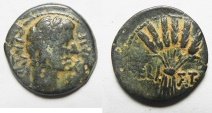 Ancient Coins - EGYPT. ALEXANDRIA UNDER AUGUSTUS (27 BC-AD 14). AE DIOBOL (25MM , 8.76G). CORN BUNDLE
