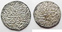 Ancient Coins - RASSIDS OF YEMEN. AL HADI YAHYA SILVER DERHIM. THUFFAR MINT