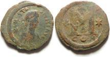 Ancient Coins - BYZANTINE - ANSTASIUS AE FOLLIS , CONSTANTINOPLE