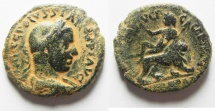 Ancient Coins - VERY RARE COIN IN THIS CONDITION: Judaea. Caesarea Maritima under Volusian (AD 251-253). AE 26mm, 12.14g.