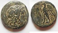 Ancient Coins - RARE: GREEK. Ptolemaic Kings. Ptolemy III Euergetes (246-222 BC). AE tetrobol (36mm, 43.73g). Sidon mint.