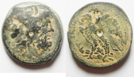 Ancient Coins - Ptolemaic Kingdom, Ptolemy IV, 221 - 204 B.C. AE 31mm