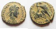 Ancient Coins - CONSTANTIUS II AE 3. AS FOUND