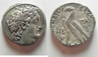 Ancient Coins - GREEK. Ptolemaic Kingdom. Kleopatra III and Ptolemy X Alexander I (107-101 BC). AR tetradrachm