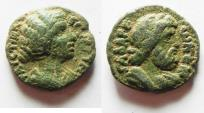 Ancient Coins - DECAPOLIS. GADARA. CHOICE COIN OF CRISPINA. AE 19