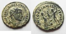 Ancient Coins - ORIGINAL DESERT PATINA. DIOCLETIANUS AE ANTONINIANUS