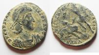 Ancient Coins - AS FOUDN CONSTANTIUS II AE CENT. DESERT PATINA