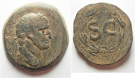 Ancient Coins - Antioch under Galba (AD 68-69). AE as (30mm, 16.86g).