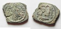 "Ancient Coins - ARAB-BYZANTINE. AELIA ""JERUSALEM"" . PALESTINE MINT AE FALS"