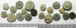 Ancient Coins - LOT OF 10 ANCIENT BRONZE ROMAN COINS
