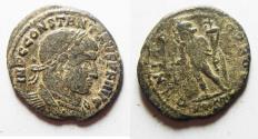 Ancient Coins - RARE: CONSTANTINE I AE FOLLIS. OSTIA MINT