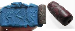 Ancient Coins - ANCIENT NEAR EASTERN STONE CYLINDER SEAL. 900 - 600 B.C