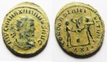 Ancient Coins - ORIGINAL DESERT PATINA. MAXIMIANUS AE ANTONINIANUS