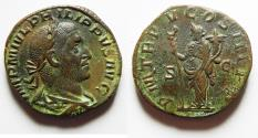 Ancient Coins - HIGH QUALITY: Philip I. A.D. 244-249. Æ sestertius. Rome