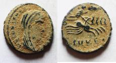 Ancient Coins - ORIGINAL DESERT PATINA: CONSTANTINE I POSTHUMOUS ISSUE. AE 4