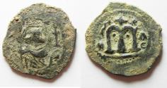 Ancient Coins - 	ARAB-BYZANTINE. DAMASCUS MINT. BEAUTIFUL AS FOUND