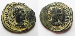 Ancient Coins - AS FOUND. NICE DESERT PATINA: AURELIAN & VABALATHUS AE ANTONINIANUS