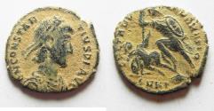 Ancient Coins - CONSTANTIUS II AE 3. AS FOUND