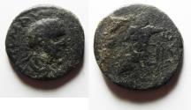 Ancient Coins - DECAPOLIS. ARABIA. ESBUS UNDER ELAGABALUS AE 22