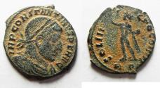 Ancient Coins - CONSTANTINE I AE FOLLIS. NICE DESERT PATINA