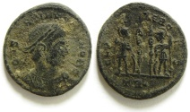 Ancient Coins - CONSTANTINE II AE 3 , AS FOUND, NCE , TRIER MINT