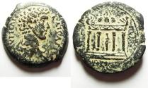 Ancient Coins - Egypt. Alexandria under Marcus Aurelius Caesar (AD 141-161). AE drachm (33mm, 18.54g).