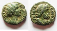 Ancient Coins - DECAPOLIS. GADARA. CHOICE COIN OF CRISPINA. AE 19