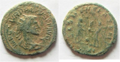 Ancient Coins - CARINUS ANTONINIANUS OVERSTRUCK OVER AURELIANUS?