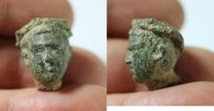 Ancient Coins - ANCIENT ROMAN BRONZE HEAD OF A YOUTH WEARING A LAUREL . 100 - 300 A.D