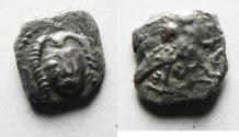 Ancient Coins - Possibly unpublished: GREEK. Judaea. Philistian. Uncertain mint. AR obol. Struck c. 400-333 BC.