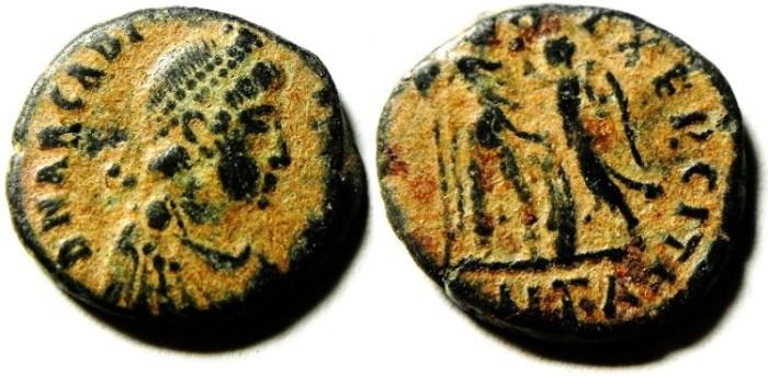 Ancient Coins - ARCADIUS AE 3 , NICE DESERT PATINA
