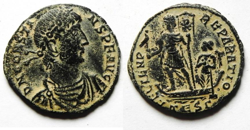Ancient Coins - Constans Centenionalis - Galley
