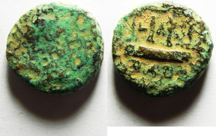 Ancient Coins - Judaea, Herodian Dynasty. Herod Philip (4 BC - AD 34). AE 16mm, 5.21g. Paneas mint, struck in regnal year 30 (AD 26/7),