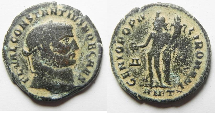 Ancient Coins - Constantius I. As Caesar Æ Follis. Antioch, A.D. 297-299