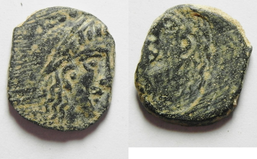 Ancient Coins - Greek. Nabataea. Nabataean Kings. RABBEL II AE 15 - BROKAGE